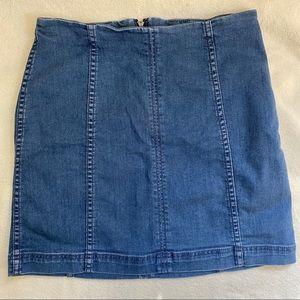 Free People denim mini skirt!